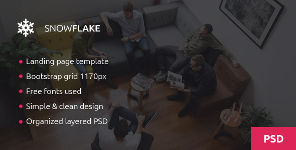 Snowflake – Onepage Agency PSD Template