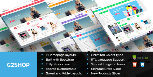 G2Shop - Responsive Prestashop Theme - Shopping PrestaShop