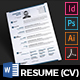 Resume Template - Minimal Clean Resume (Curricula Vitae)