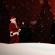 Santa Claus Walking in Snow Covered Field - VideoHive Item for Sale