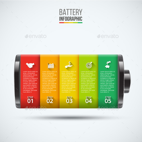 Vector battery element for infographic. - Infographics