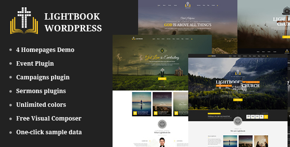 Church Events WordPress Theme – LightBook