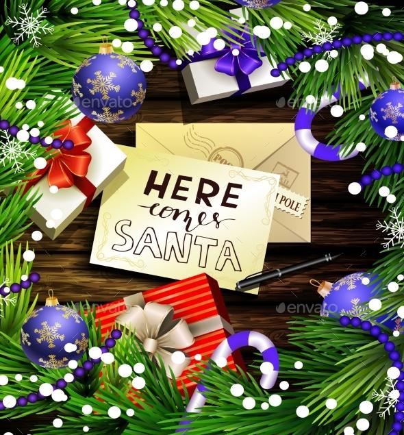 Christmas Design On Wood - Christmas Seasons/Holidays