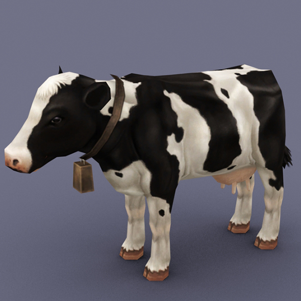 milk cow - 3DOcean Item for Sale