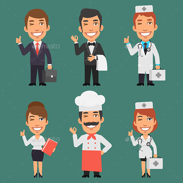 Characters Different Professions Part 2 - People Characters