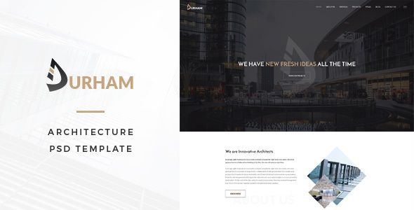 Durham : Architecture PSD Template - Business Corporate