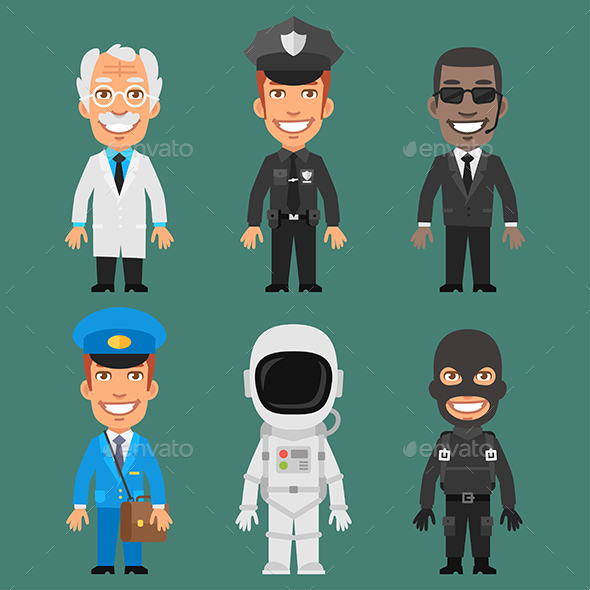 Characters Different Professions Part 6 - People Characters
