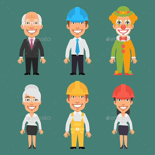 Characters Different Professions Part 11 - People Characters