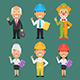 Characters Different Professions Part 12 - GraphicRiver Item for Sale