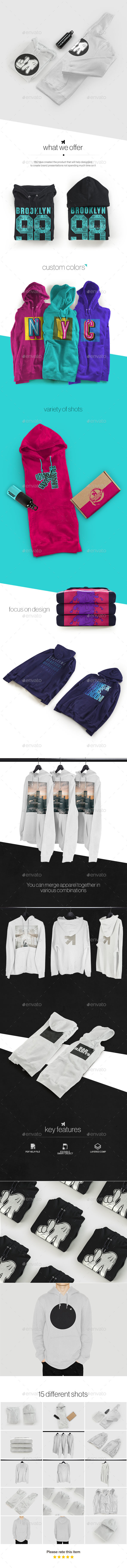 Hoodie Sweatshirt Presentation Mockup - Apparel Product Mock-Ups