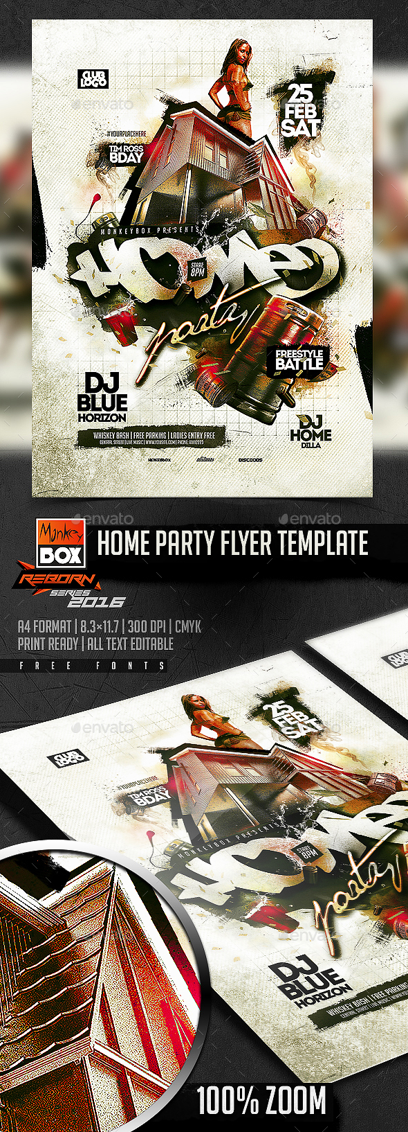 Home Party Flyer Template - Flyers Print Templates