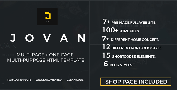 Jovan | Multipurpose HTML5 Template
