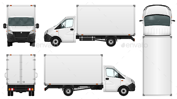 Delivery Van Template - Man-made Objects Objects