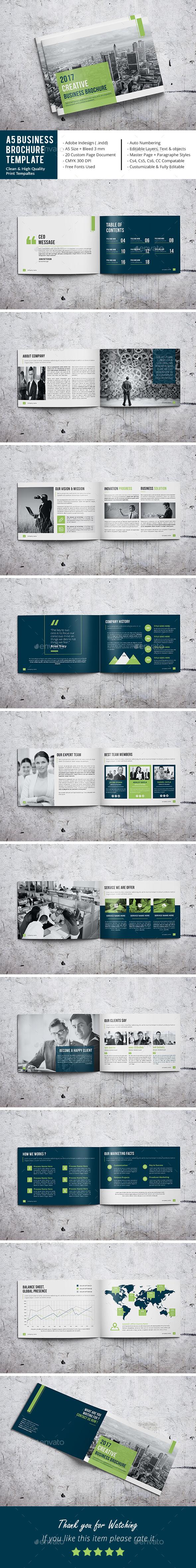 A5 Business Brochure Template - Corporate Brochures