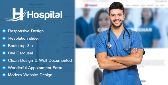 Hospital – Hospital Appointment and Management HTML Template