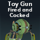 Toy Gun Fired and Cocked