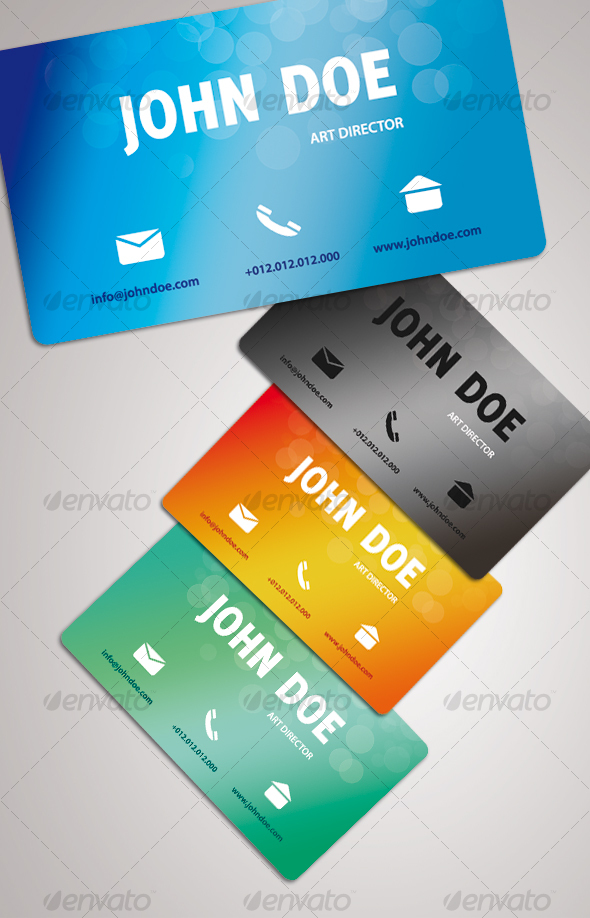 GRADIENT business card - Creative Business Cards