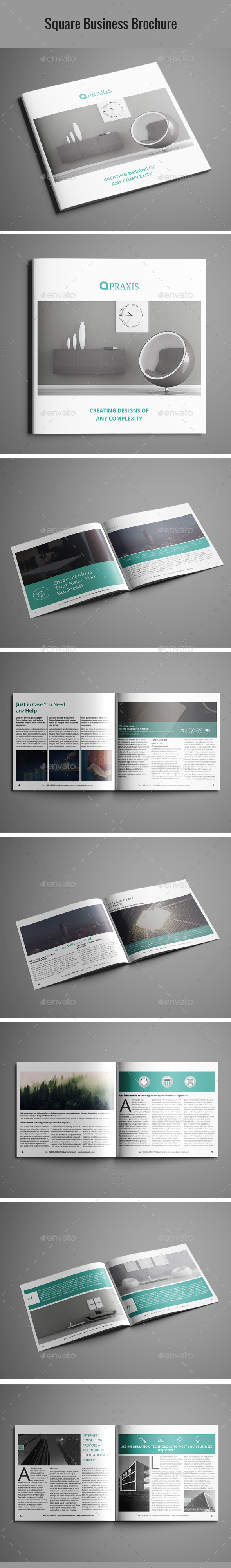 Square Business Brochure - Brochures Print Templates