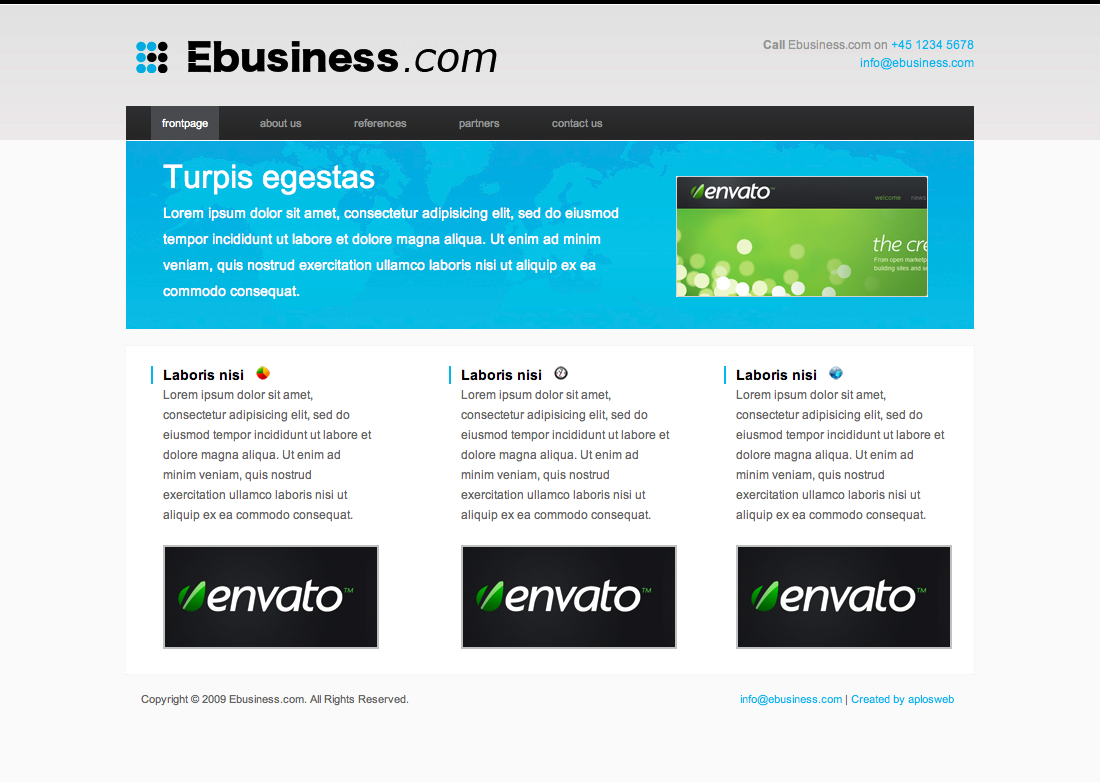 Free Download Ebusiness theme Nulled Latest Version