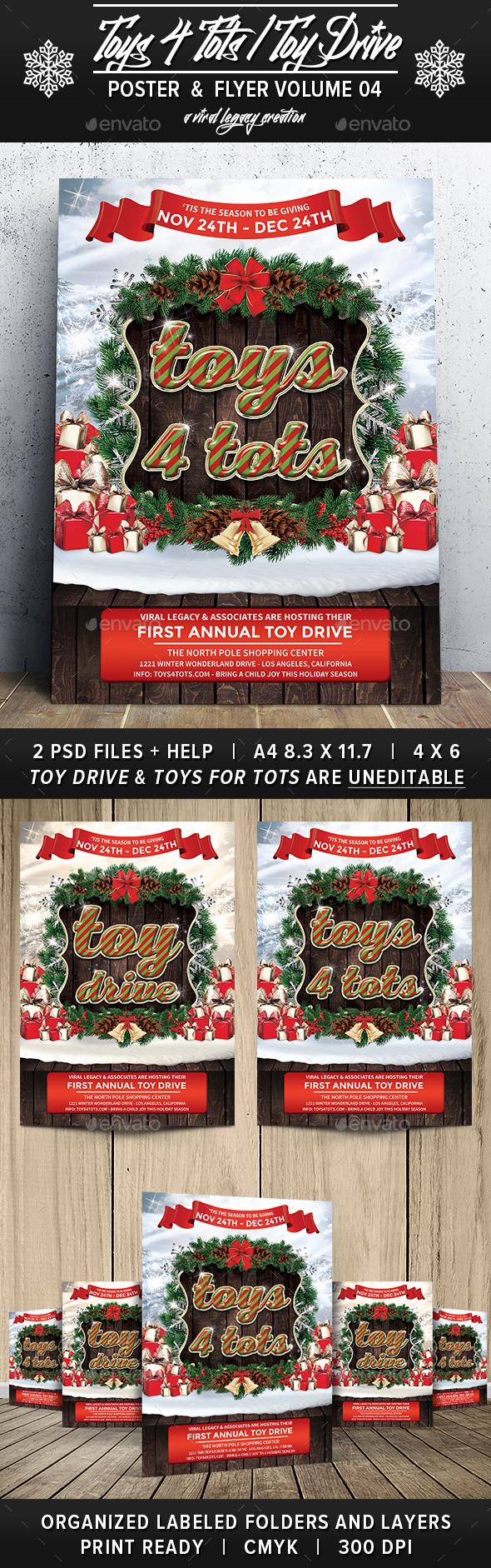 Toys 4 Toys / Toy Drive V04 - Flyers Print Templates