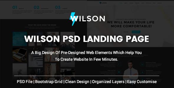 WILSON - PSD Multipurpose Landing Page - PSD Templates