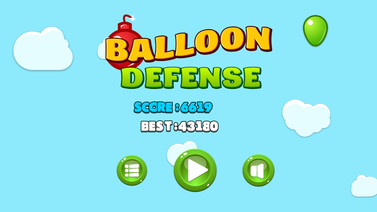 Balloon defense - HTML5 game. Construct2 (.capx) + mobile + cocoon ADS