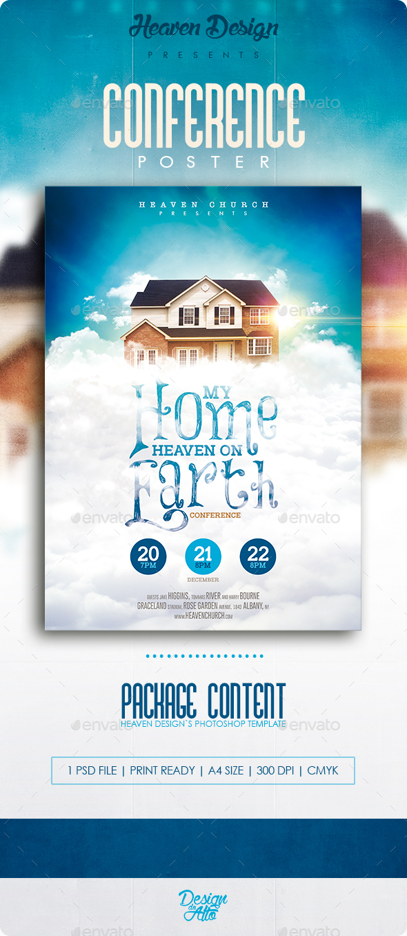 My Home, Heaven on Earth | Poster - Church Flyers