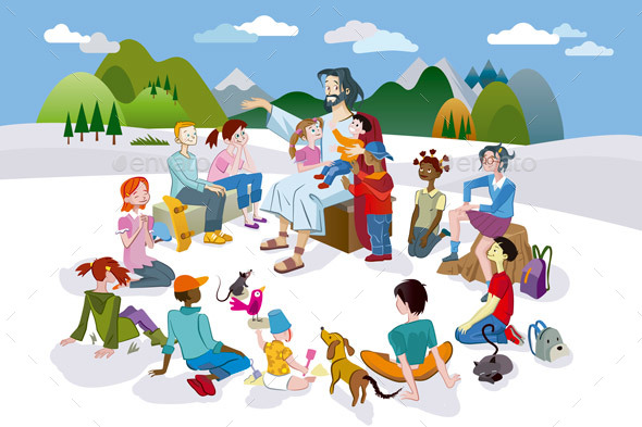 Jesus Talking to Children - Religion Conceptual