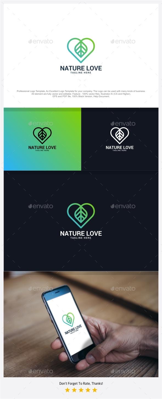 Nature Love Logo - Nature Logo Templates
