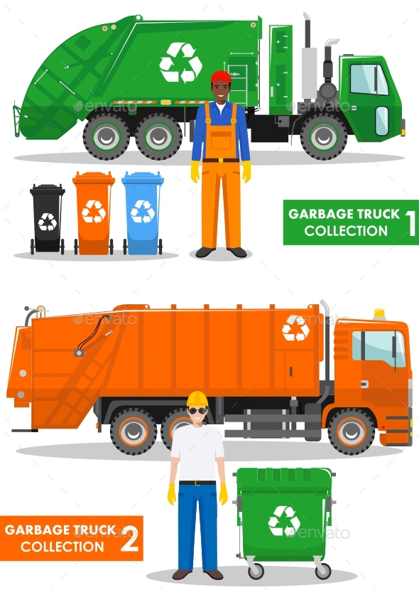 Garbage Truck Collection - People Characters