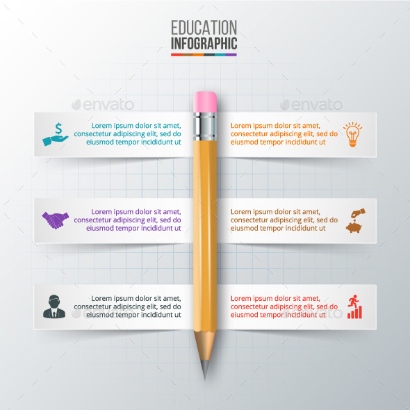 Vector pencil for infographic. - Infographics