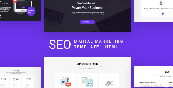 SEO – Digital Marketing Template