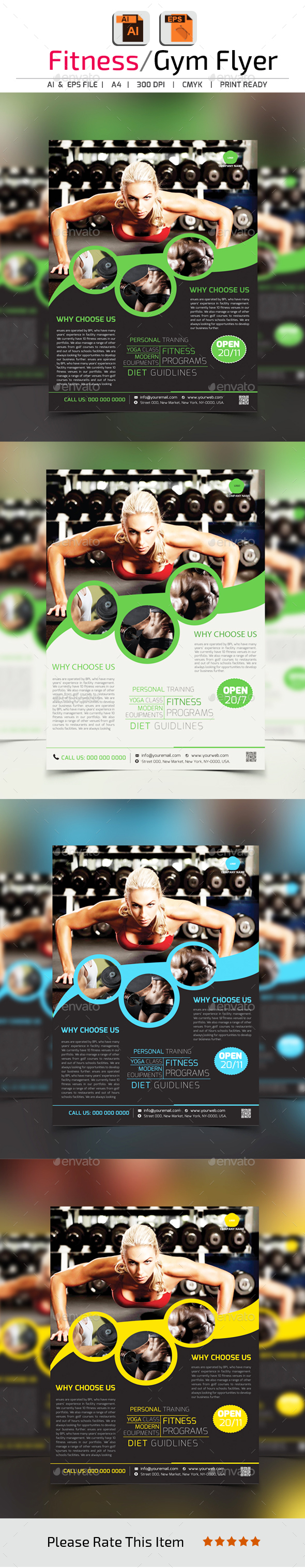 Fitness/Gym Flyer Template