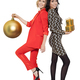 Two Smiling Woman Holding Presents. Happy New Year.  - PhotoDune Item for Sale