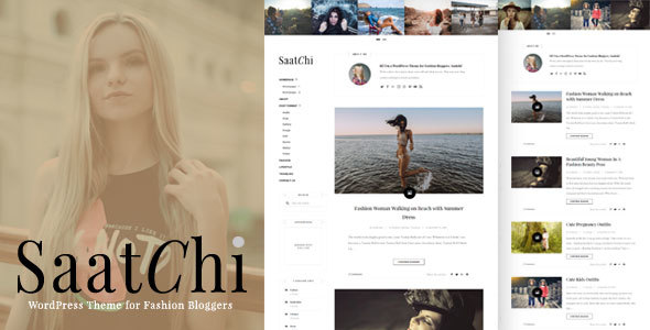 Saatchi – WordPress Theme for Fashion Bloggers