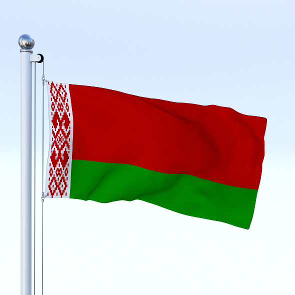 Animated Belarus Flag - 3DOcean Item for Sale