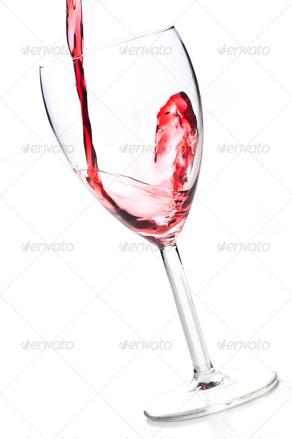 wine pouring into wine glass - Stock Photo - Images