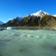 Winter Mountain Landscape with Lake. Tasman Glacier, New Zealand - VideoHive Item for Sale