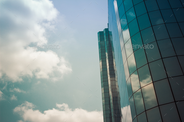glass high rise corporate building - Stock Photo - Images