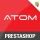 Atom - Responsive Multipurpose Prestashop Theme - ThemeForest Item for Sale