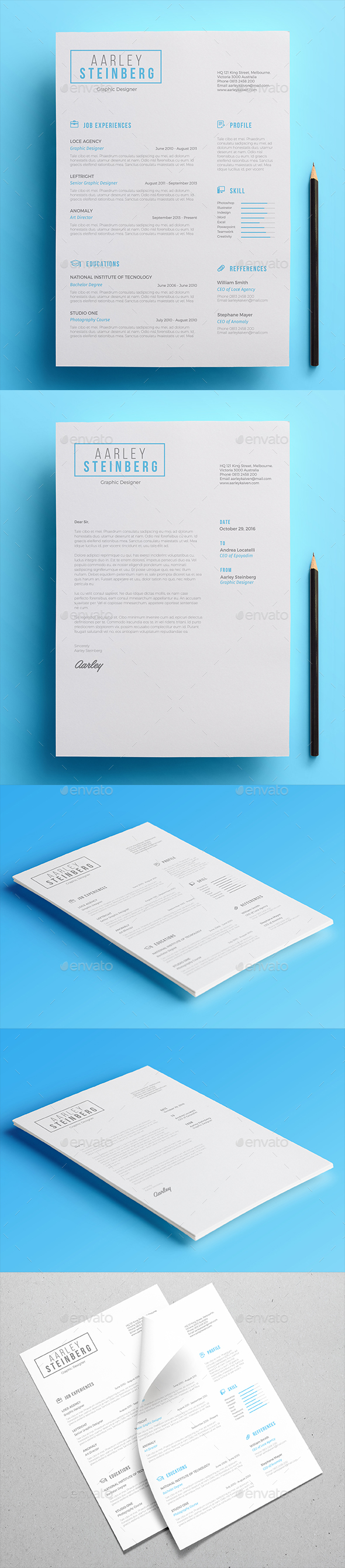 Minimal Resume 02 - Resumes Stationery