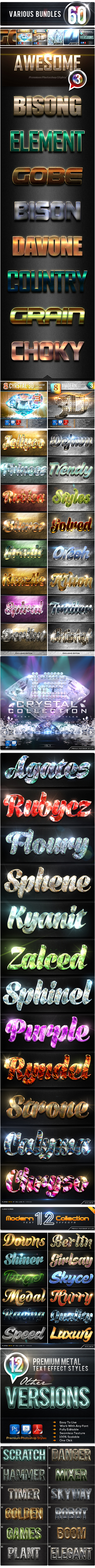 60 Various Bundles Vol.3 - Text Effects Styles
