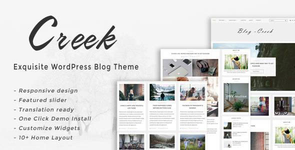 Creek - Exquisite WordPress Blog Theme - Blog / Magazine WordPress