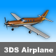 3DS Very Low Poly Airplane  - 3DOcean Item for Sale