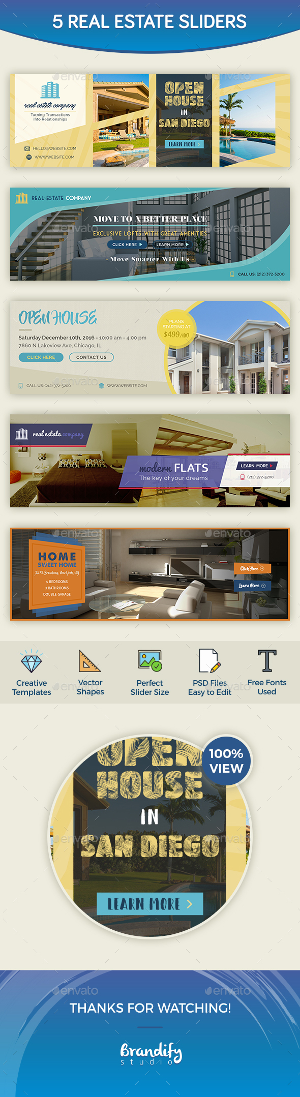 Real Estate Slider - Sliders & Features Web Elements