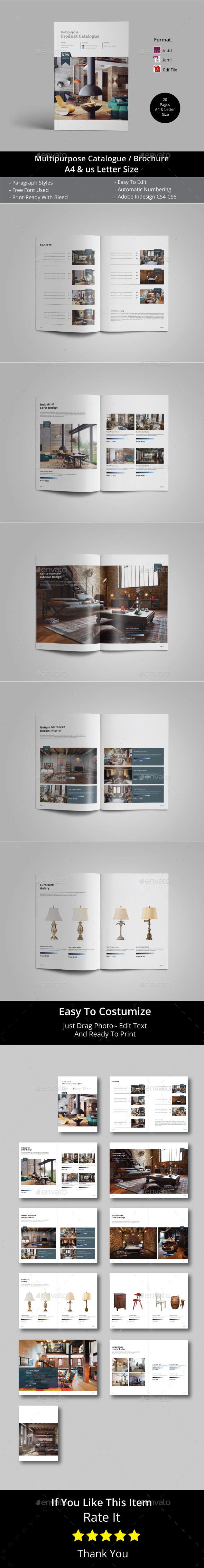 Multipurpose Catalogs / Brochure Template - Catalogs Brochures