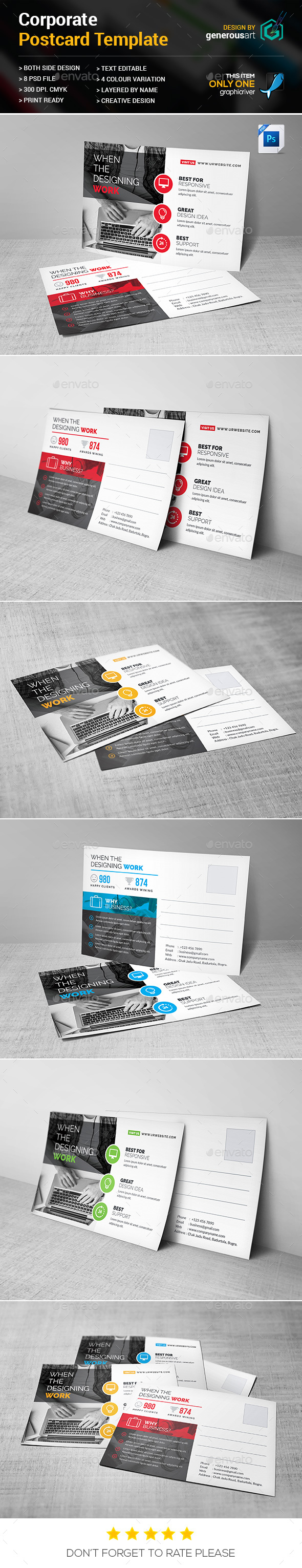 Pro_Postcard - Cards & Invites Print Templates