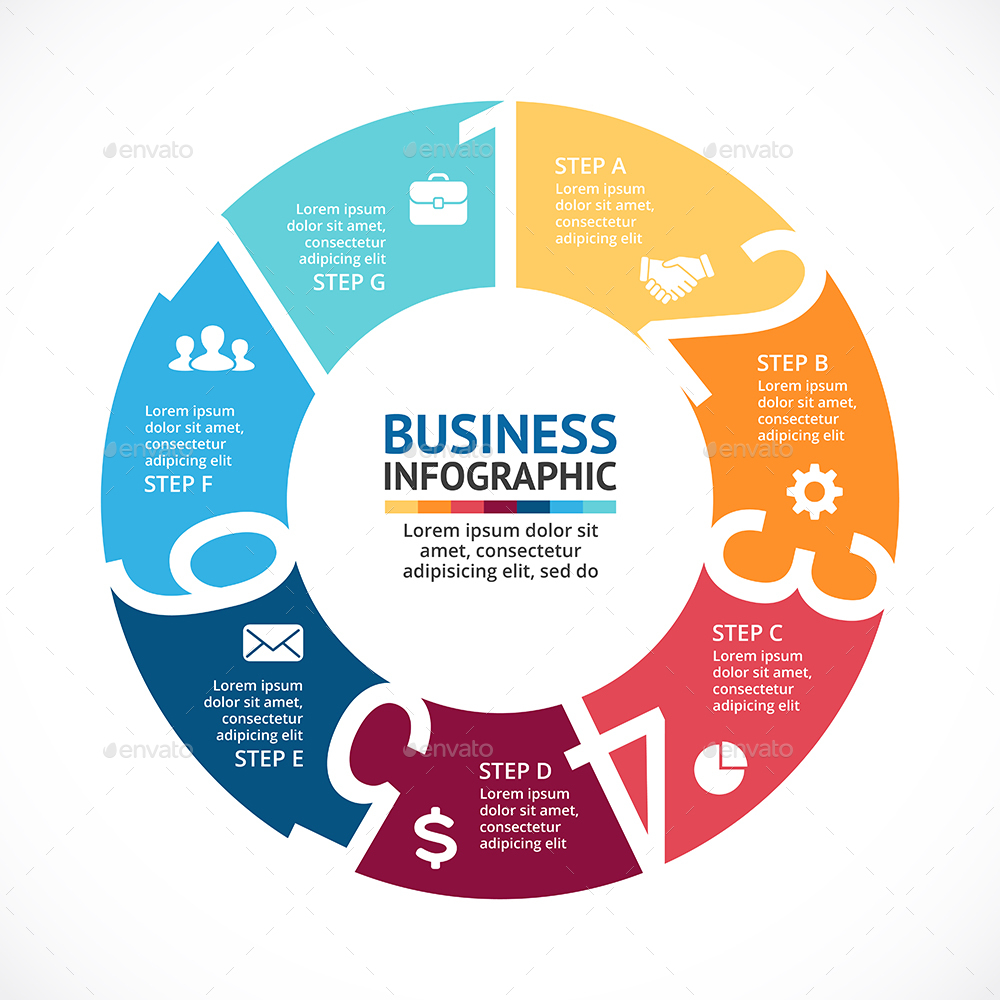 7 steps infographics  psd  eps  ai  by graphic seamus