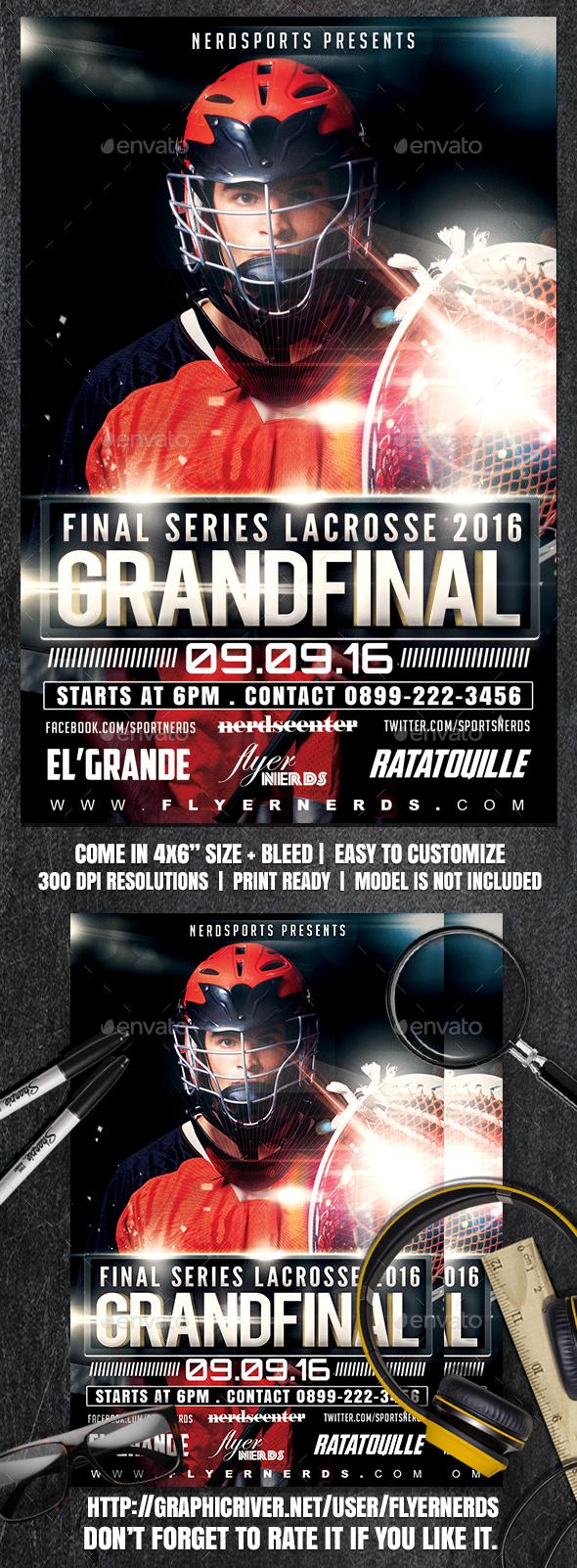Final Series Lacrosse 2016 Grand Final Sports Flyer - Sports Events