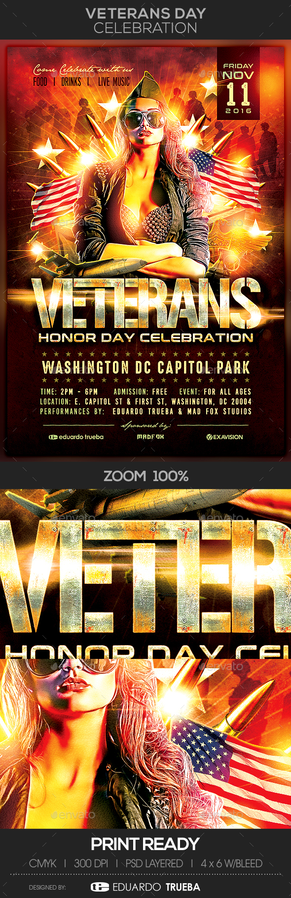 Veterans Day Celebration Flyer - Events Flyers